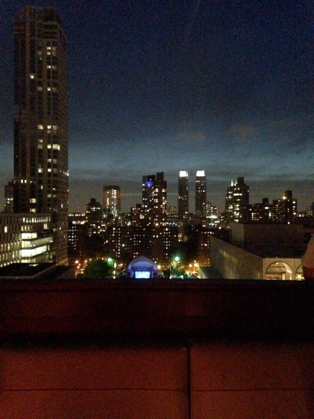 The view from the Empire Hotel