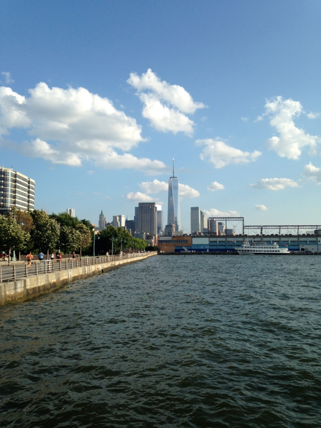 The view from Hudson River Park