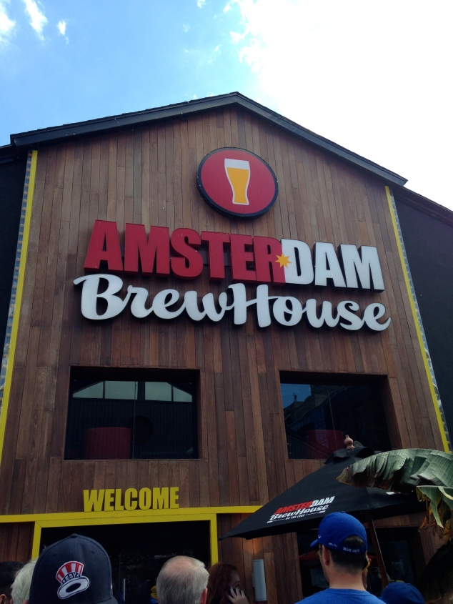 We had to dine at Amsterdam BrewHouse - it's named for the city where we all met!