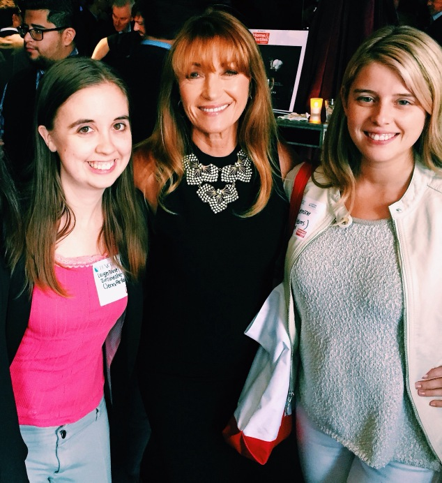 Also we met Jane Seymour, but Jordan is better