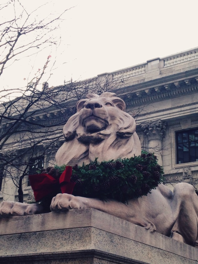 The New York Public Library at Christmas 2015
