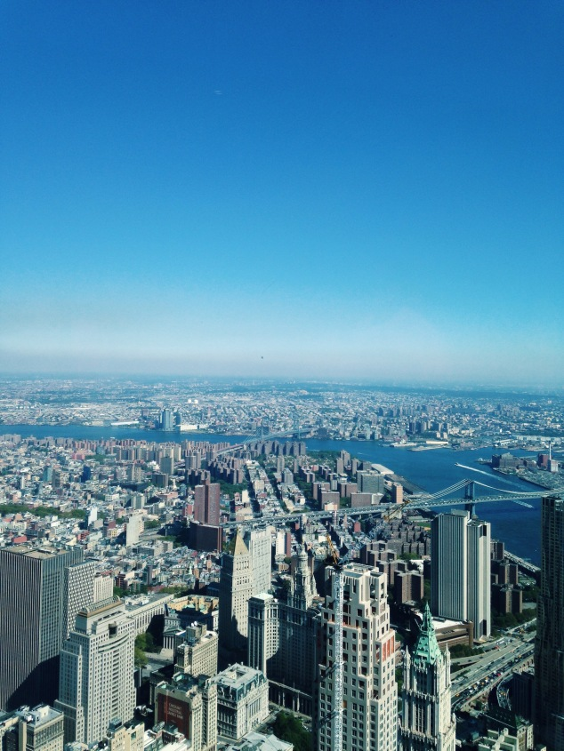 New York City as seen from One World Observatory
