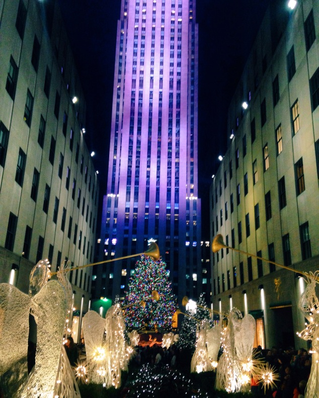 The Christmas tree at Rockefeller Plaza