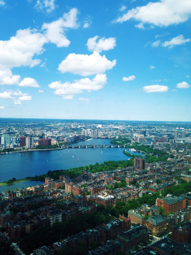 Boston as seen from the Prudential Tower