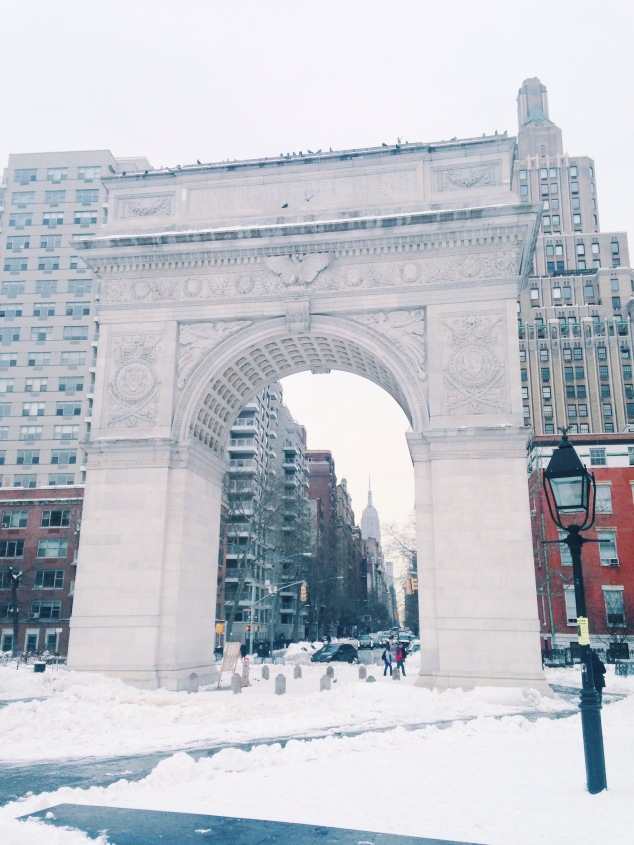 Washington Square Park after Snowstorm Jonas