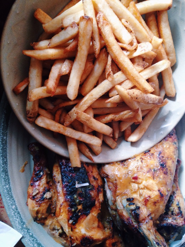 Chicken and chips at Nando's Peri-Peri, Washington D.C.
