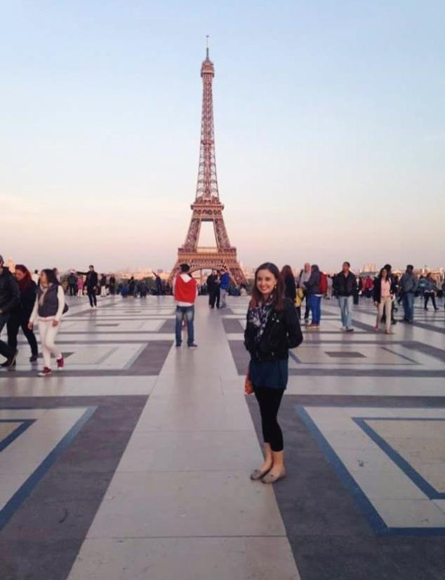The Eiffel Tower, Paris, at sunset