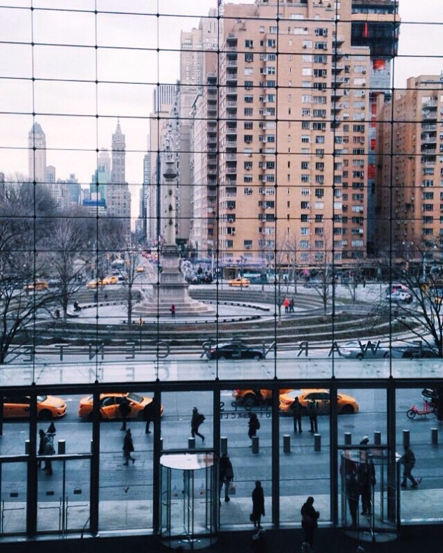 Columbus Circle NYC in the winter