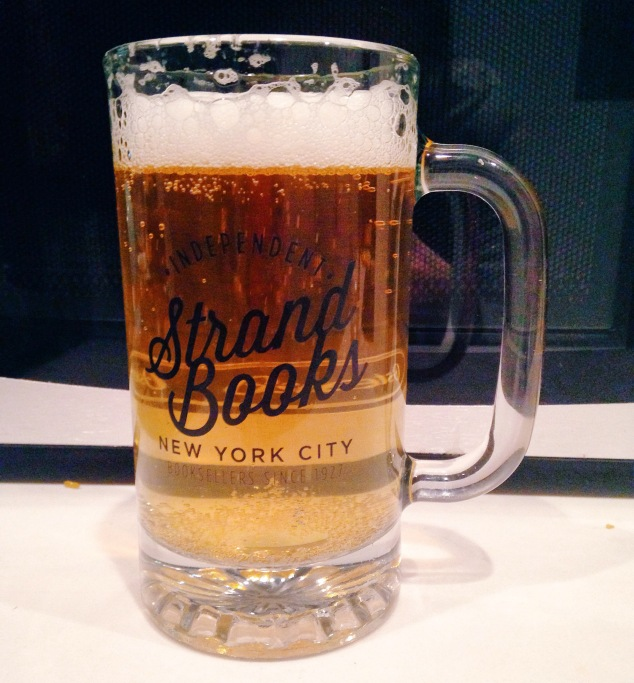 Beer in a stein from Strand Books, NYC