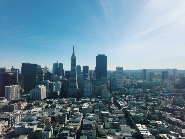 View of Downtown San Francisco from Coit Tower