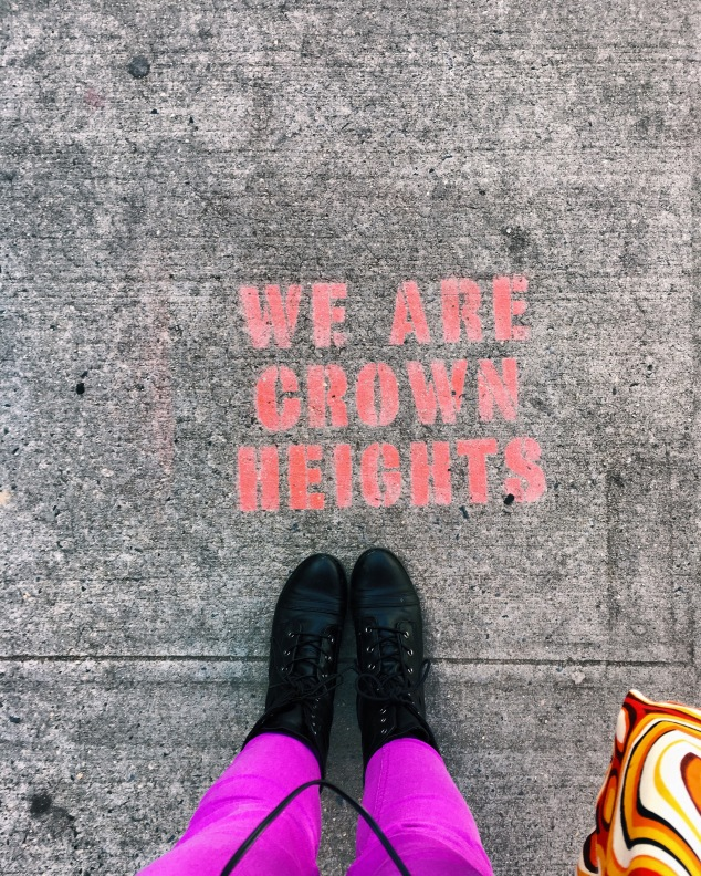 We are Crown Heights sidewalk art