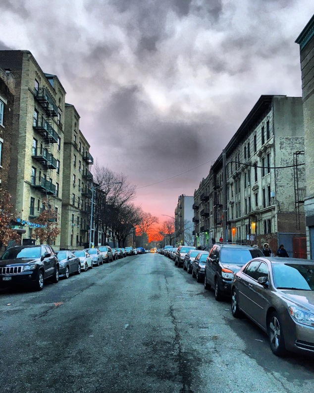 Sunrise in Crown Heights, Brooklyn