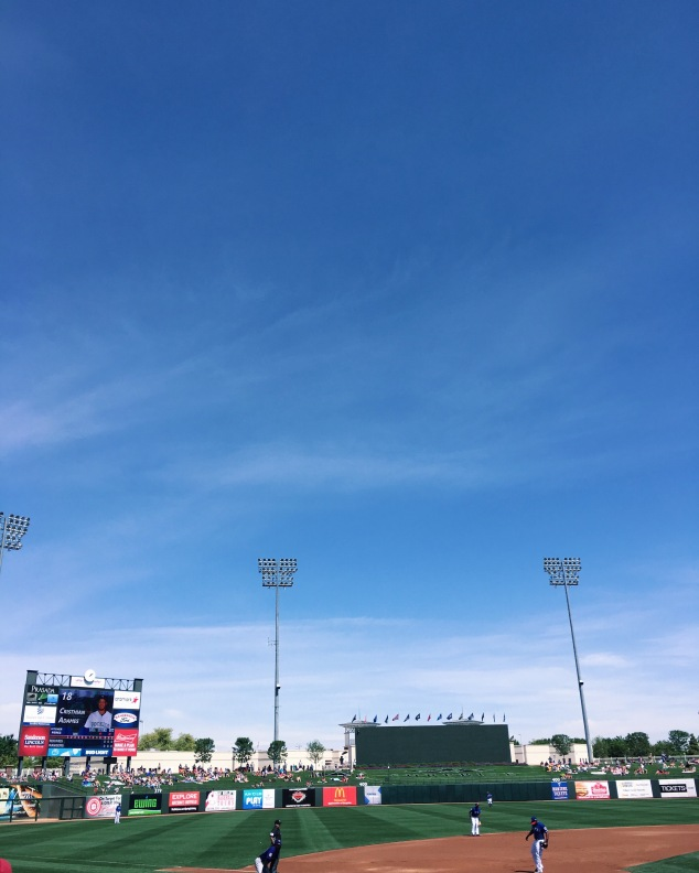 Texas Rangers at Surprise Stadium, Arizona