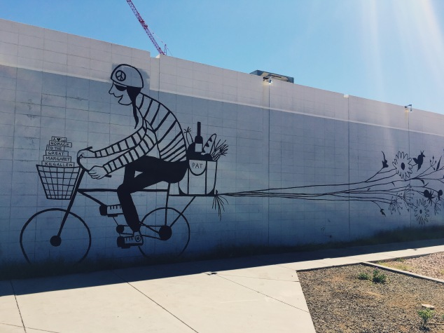 Street art mural in downtown Phoenix, Arizona