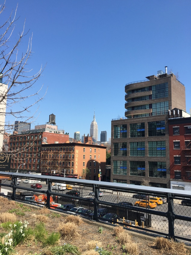 View of the Empire State Building from the High Line, New York City