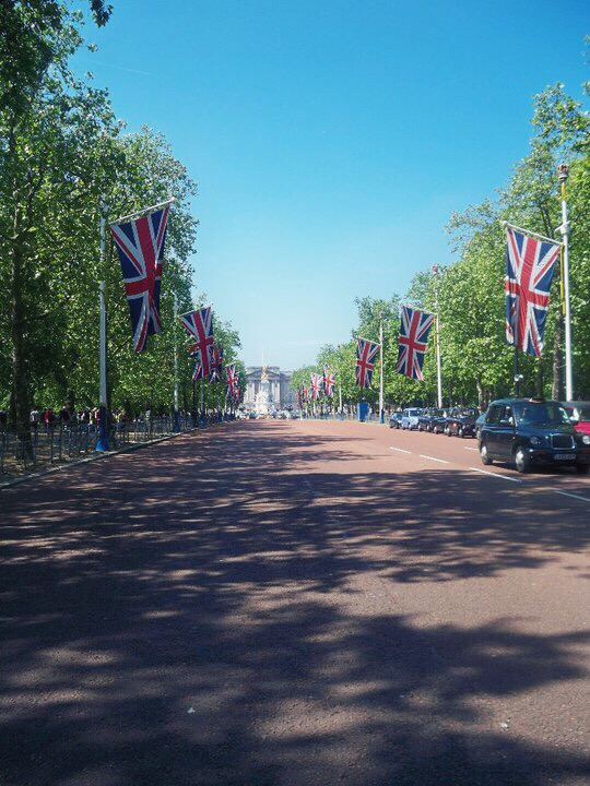 Outside Buckingham Palace, London