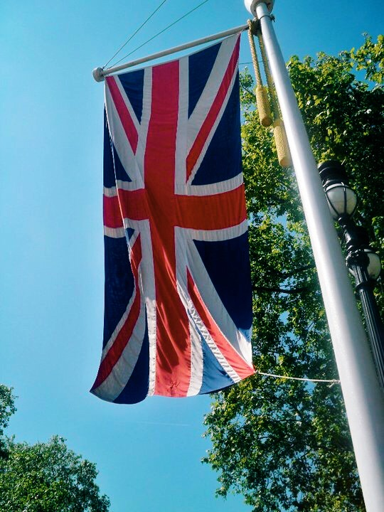 Union Jack outside Buckingham Palace, London