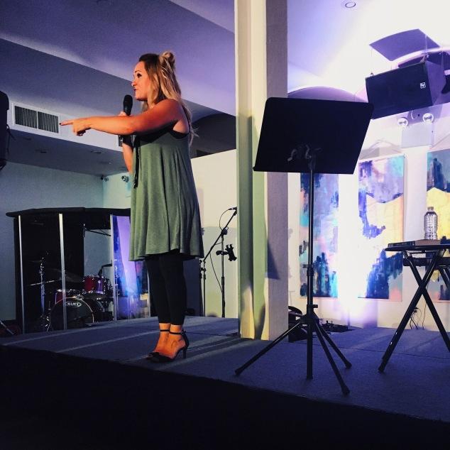Havilah Cunnington speaking at Liberty Sisterhood