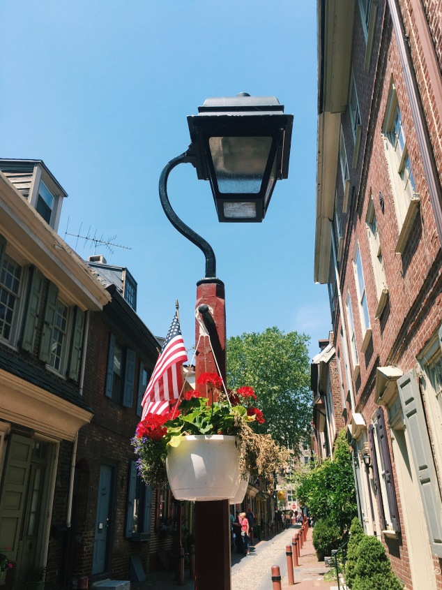 Lamppost in Elfreth's Alley, Philadelphia