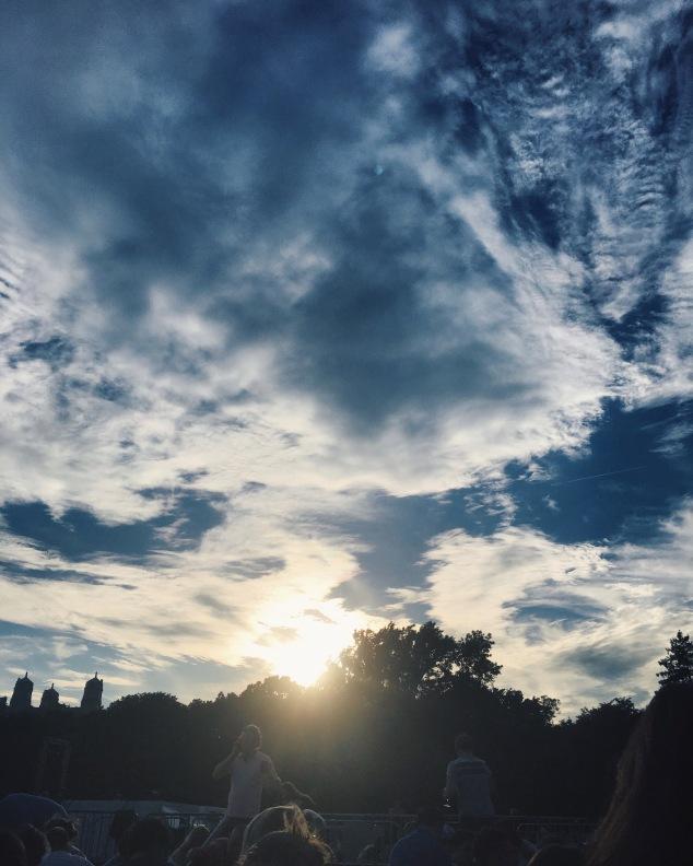Summer sunset at Central Park